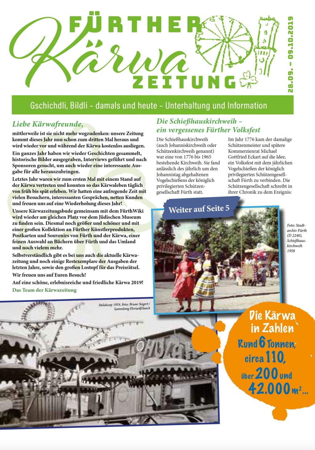 Cover Kärwazeitung 2019