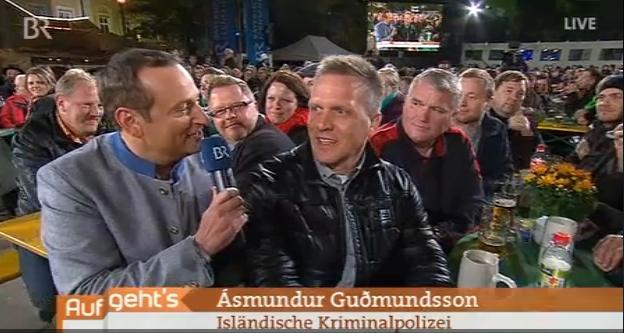 Island Polizei im TV auf Fürther Kirchweih