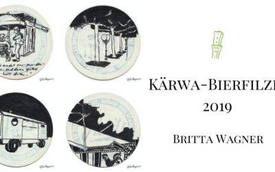 Kärwa-Bierfilzli 2019 von Britta Wagner
