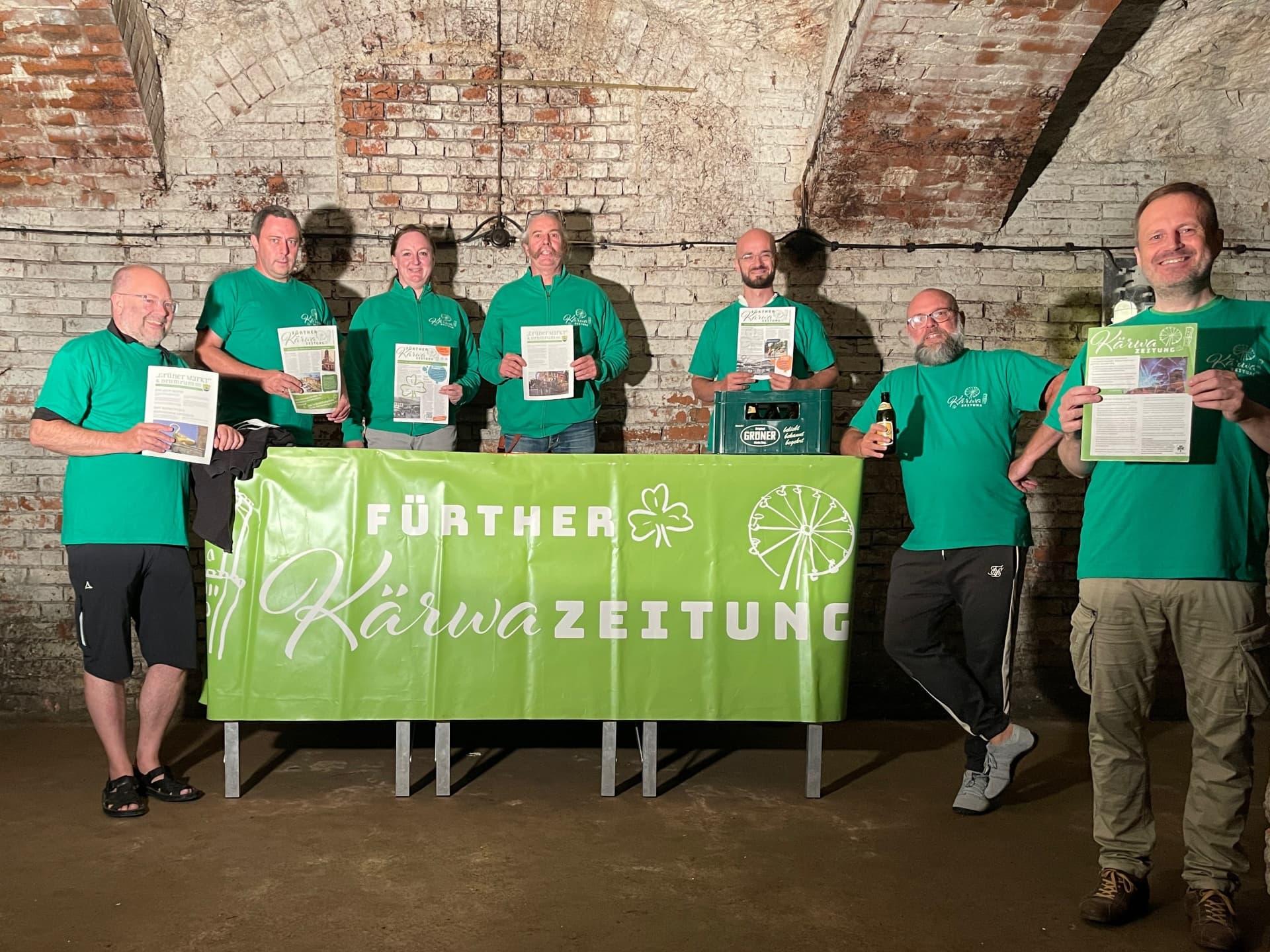 Kärwazeitung Vereinsgründung Gruppenbild